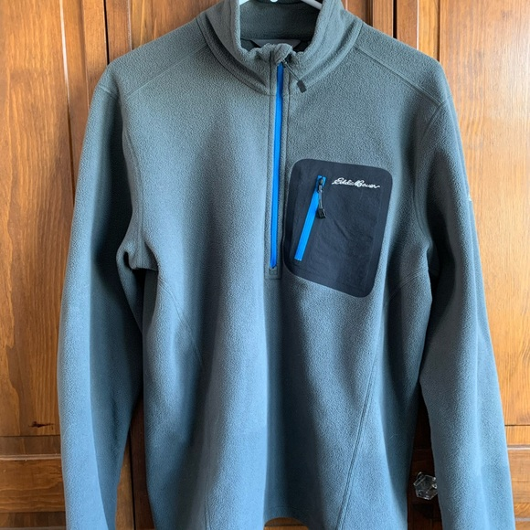Eddie Bauer Fleece Quarter zip pullover (EUC)